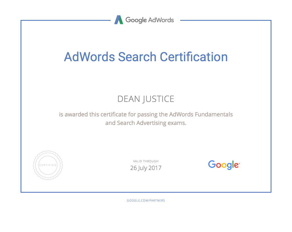 AdWords-Search-Certification